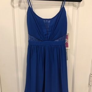 NWT Hailey Logan by Adrianna Papell Royal Blu Lace